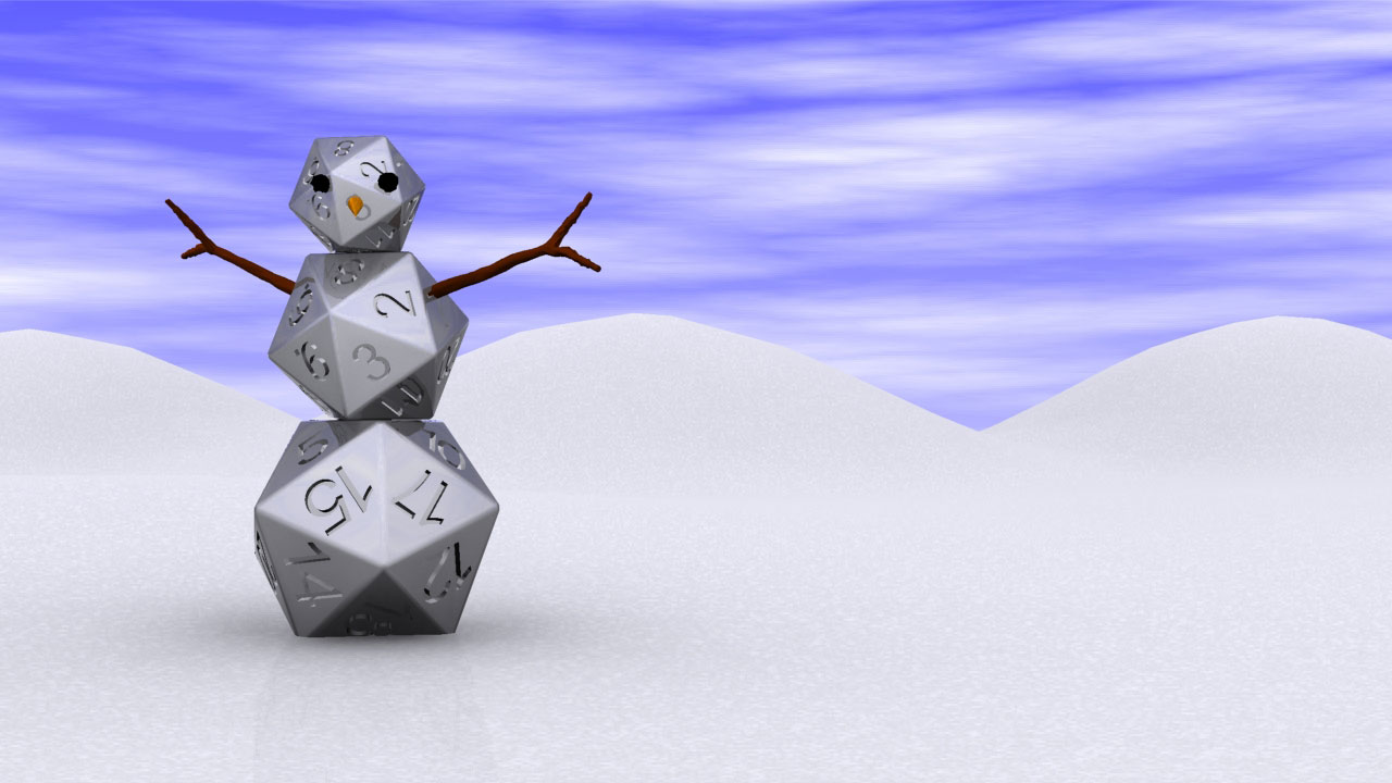 Snowman Made of d20's just for Fun