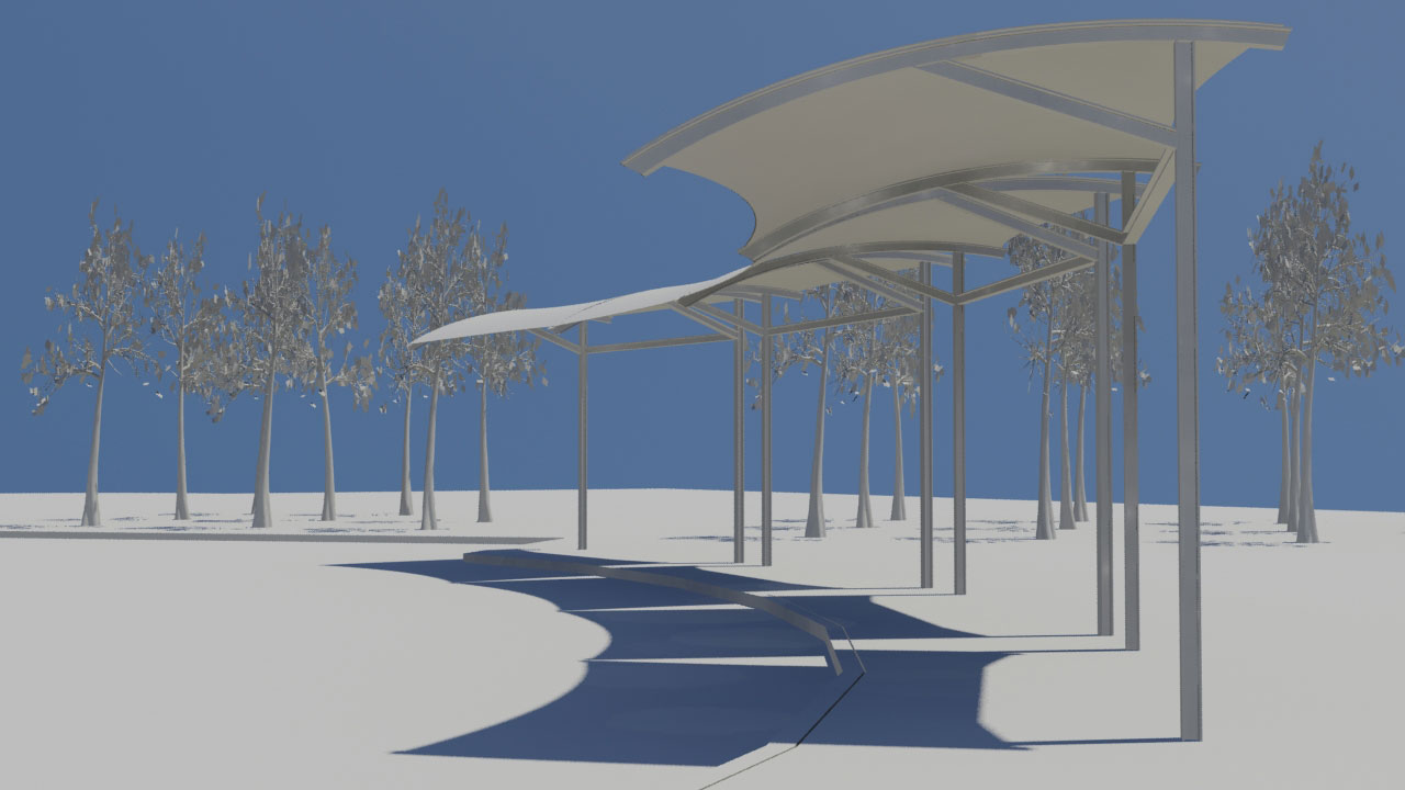 Proposed Canopies For Salt Lake City Central, Frontrunner Station